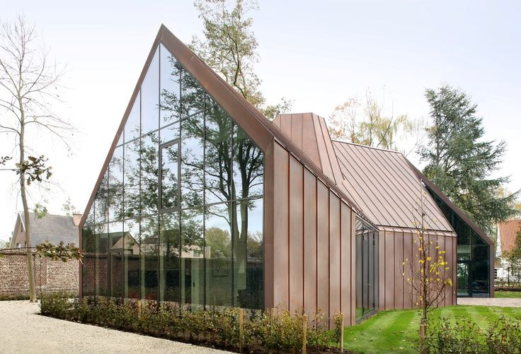 Finaliste/Shortlisted: Maison unifamiliale, Destelbergen, Belgique | Copperconcept.org #copper #cuivre #architecture #building #design