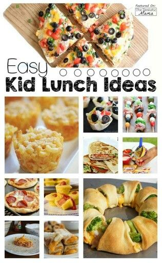 Easy kid lunches