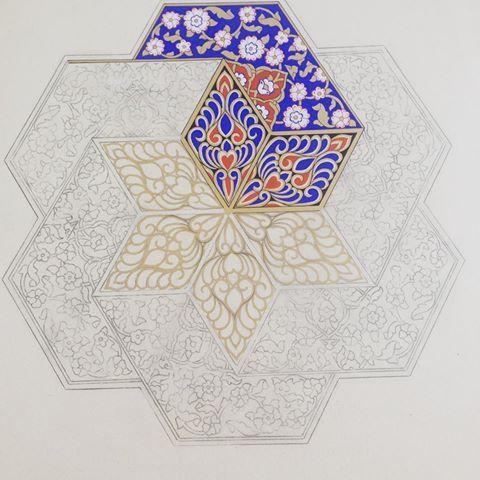#Hayırlı pazarlar#sivas#darüşifahne#geometrik#desen#münhani #sazyolu #osmanlı #sanat #ottomonart #islamicart #illumination #illuminator #illustration #paiting #drawing #artdesign #artwork #workinprogress #istanbul #türkiye #tezhipsanatı #tezhip #artoftheday #islamic #art #artwork #artdesign #rumi
