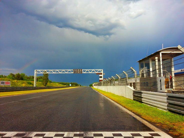 Po burzy i tęcza nad prostą startową :)