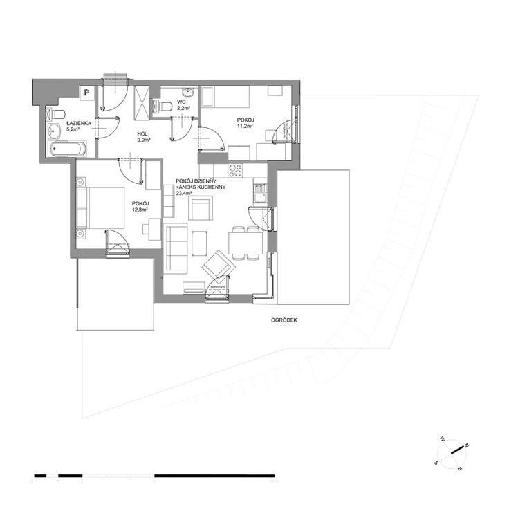 A212 - Parter - Budynek A2 - Plany mieszkań - Bursztynowa - Gdańsk - Mieszkania - Oferta - Invest Komfort
