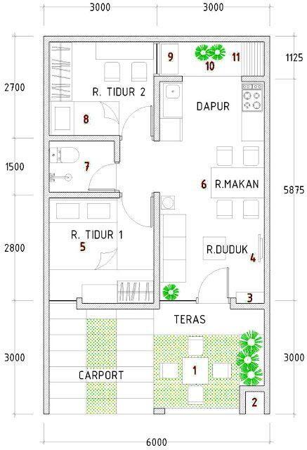 Desain Interior Rumah Type 48