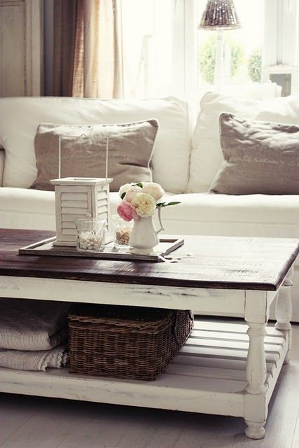 White & Walnut coffee table: