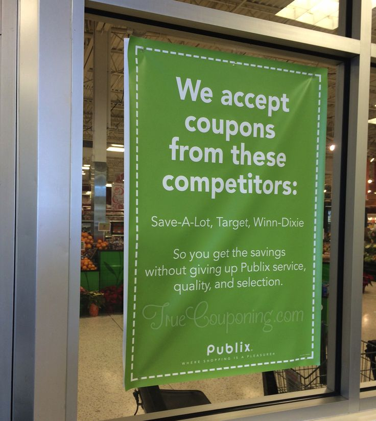 Did you know that Publix accepts competitor coupons? YES!! Know which stores before you go... by checking for YOUR Publix stores' competitors before you shop!