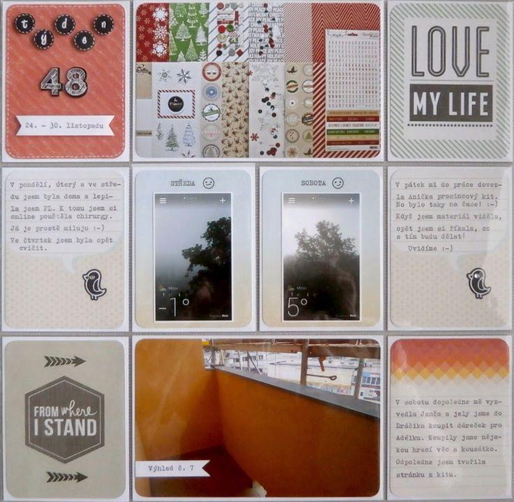 Project life 2014 - 48. týden (levá strana)