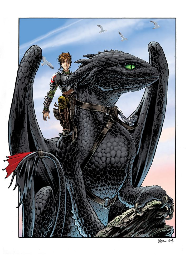 Hiccup And Toothless By Danielgovar Deviantart Com On