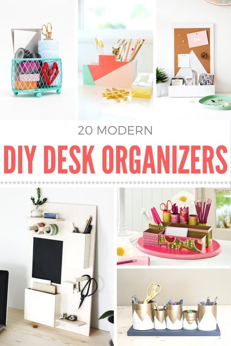 Make A Diy Desk Organizer On A Budget Desk Organization Diy Diy