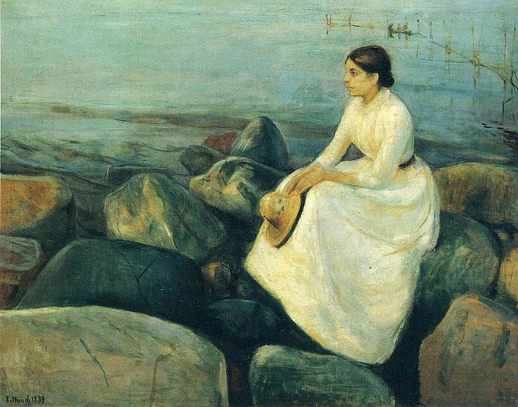 Edvard Munch. Summer Night (Inger on the Shore). 1889. Oil on canvas. 126.5 x 162 cm
