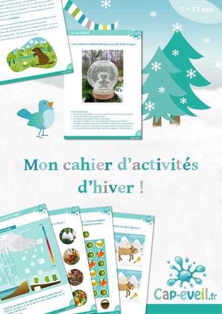 Cahier d'activités hiver : jeux et découvertes sur l'hiver