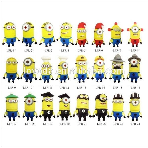identify minions | hot selling Despicable Me minion onesie/minion usb/yellow minion usb ...