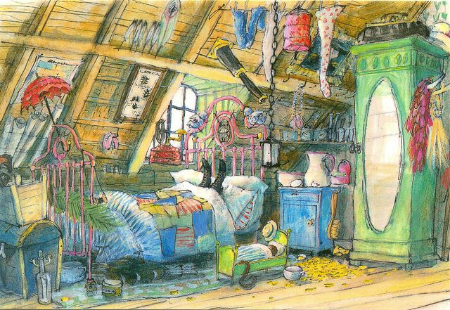 ✏ #Marit #Tornqvist - Illustration by Marit Tornqvist - Pippi Longstocking' (Astrid Lindgren)