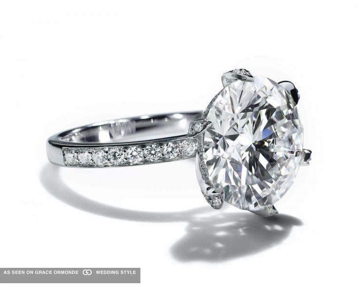 Tiffany and Co diamond engagement ring. #tiffany #co #tiffanyandco #roundcut #round #tiffany&co #weddingplanning #proposal #weddingideas #weddinginspiration #jewelry #bridal #bridaljewelry #diamond #engagementring #ring #engagement #luxuryweddings #graceormonde #weddingstyle