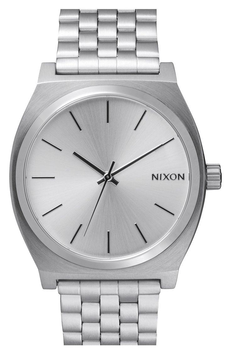 Think, minimalist. Love the simplicity of this sleek Nixon watch.