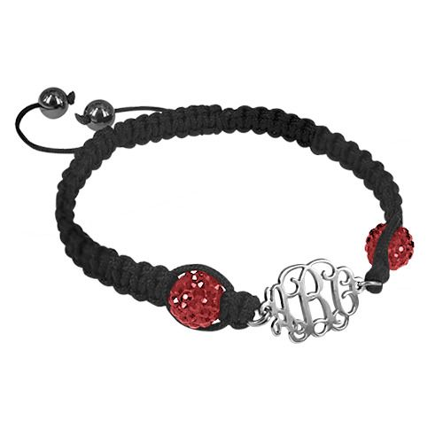 Bracelet Monogramme Shamballa
