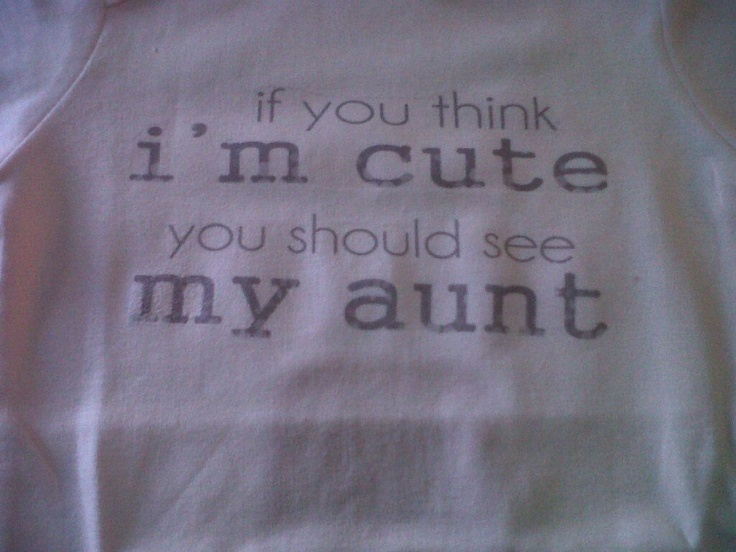 If you think I am cute...see my aunt(new design)