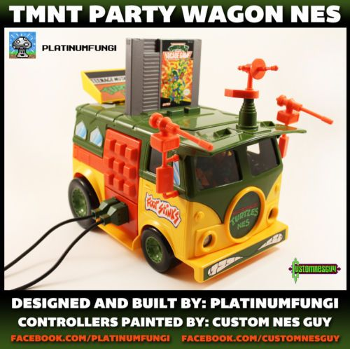 TMNT Party Wagon NES This is the most awesome thing i´ve seen in a long time!