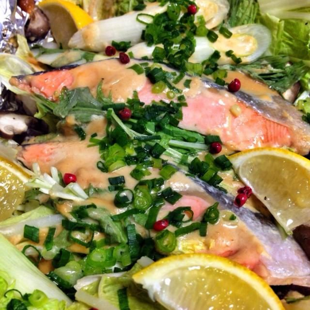 マヨネーズとみりんと味噌を混ぜてかけてアルミホイルで包んで焼くだけの簡単料理(`・ω・´) ホイル焼きは簡単なのに美味しくていいなあ☆*゚ ごちそうさまでした(*´∀`)♪ - 122件のもぐもぐ - 鮭のマヨ味噌ホイル焼き by とかげ_(:3 」∠ )_