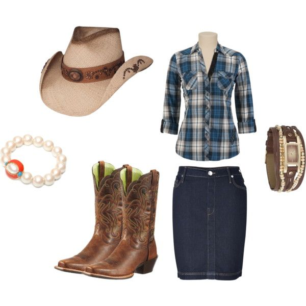 """""""Cowgirl Outfit"""" love! If I lived in like Texas where everyone wore this stuff, I'd totally wear it also. And LOVE it!!!"""
