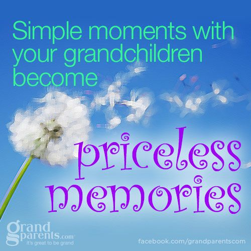 This is true, you never know how much of an impression you have made on your grandchildren until you see as you grow older how important you are to them.  That is a good feeling ♥