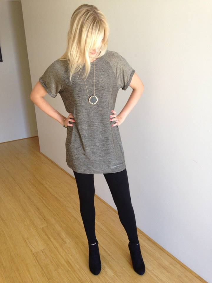 Slick Night Metallic Tunic $49.95 available in size S (8). Get yours at www.facebook.com/theweekendedit! So easy to style, wear with leggings/tights and boots and you're set for the new season!