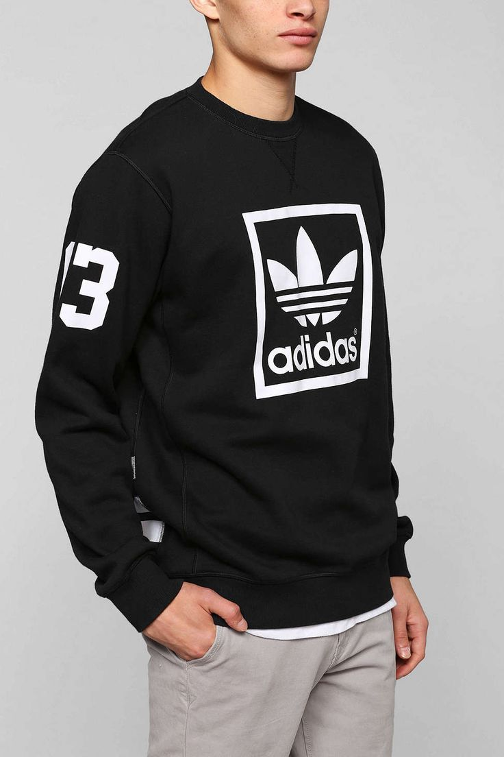 adidas Trefoil Crew-neck Sweatshirt - Urban Outfitters Women, Men and Kids Outfit Ideas on our website at 7ootd.com #ootd #7ootd