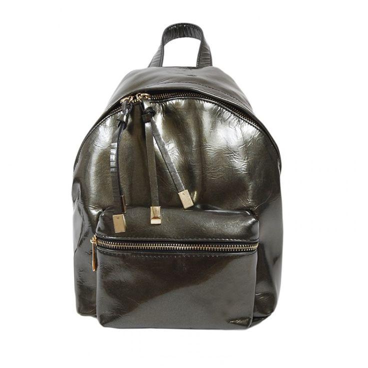 john-andy.com | JOHN-ANDY Μικρό Δερμάτινο shiny Backpack
