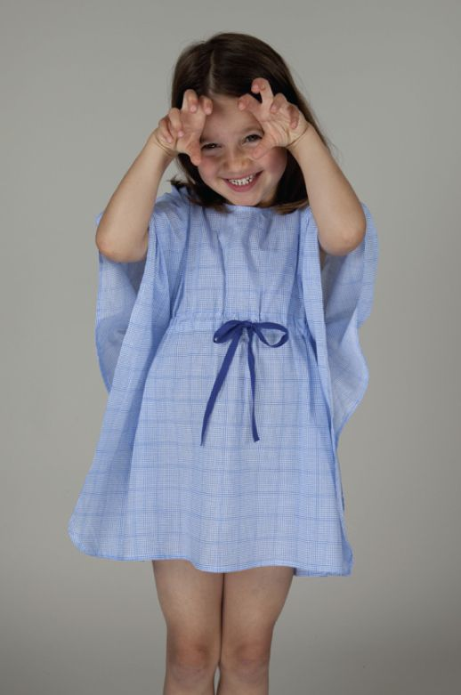 Graph check print cotton girls kaftan dress by Miss Hall for summer 2015