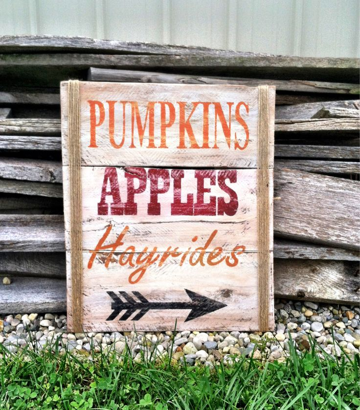 Fall Decor Fall Sign Pumkins Apples Hayrides by CharmingWillows