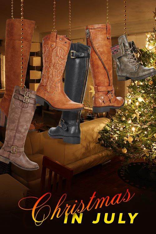 Xmas In July! Stock Up On Boots – For A Limited Time Only from July 31st 2015 to August 31st 2015 get 2 Pairs for $39.95 Shipped. Can't Decide Which Xmas Style is Best for You? Find Out by taking Our Shoe Style Quiz and Take Advantage of This Limited Time Offer!