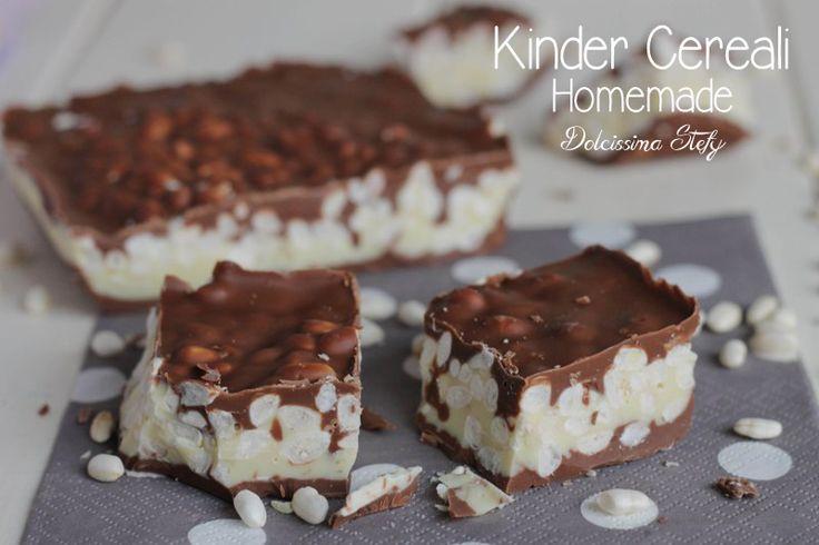 Il Kinder Cereali fatto in casa è molto più buono di quello comprato e poi è semplicissimo da preparare,voi l'avete mai fatto? cioccolato e riso soffiato :)