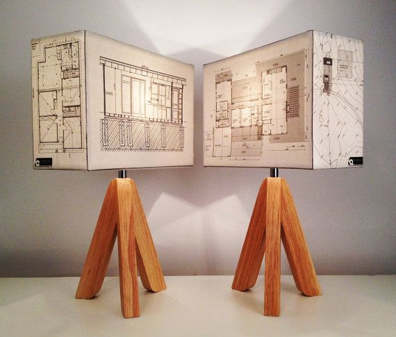 By Bespoke Order  YOUR HOUSE PLANS made into a lamp di Patturn, $130.00