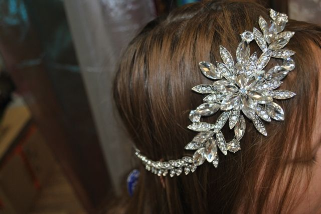 Crystal headpiece #wedding #hairpiece #headpiece #hairbling