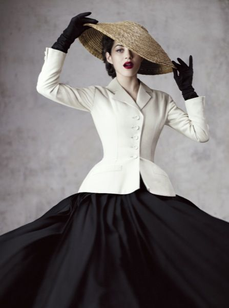 Marion Cotillard for DiorMag - Fall/Winter 2012/2013 wearing vintage Christian Dior Haute Couture