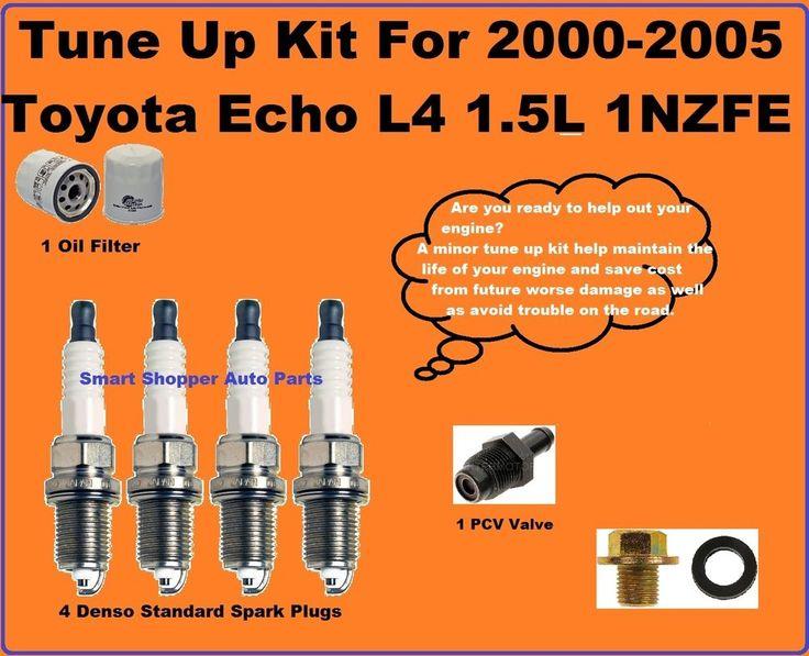Tune Up 2000-2005 Toyota Echo L4 Spark Plug, Oil Filter PCV Valve Oil Drain Plug