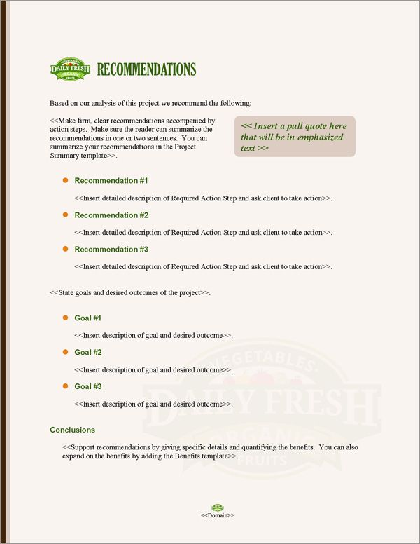 Proposal Pack Agriculture 5 Proposal Templates Business