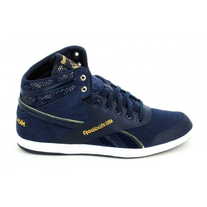 Reebok bb 7700 mid jacquard bleu marine basket montante femme | sportinlove 2014