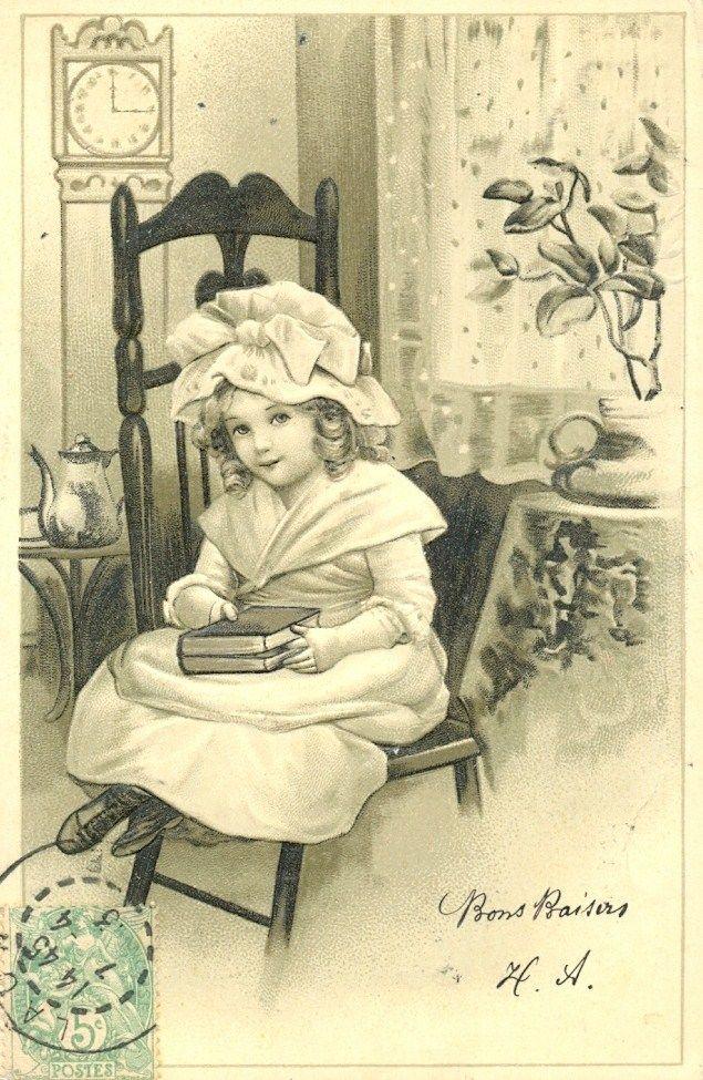 Черно-белое ретро открытки