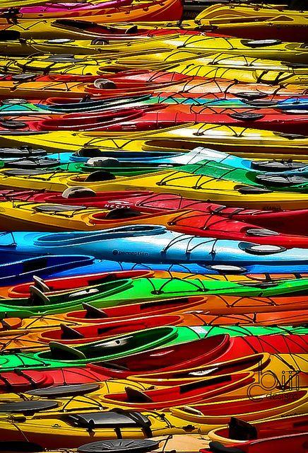 Sea of Kayaks, Rockport, Massachusetts