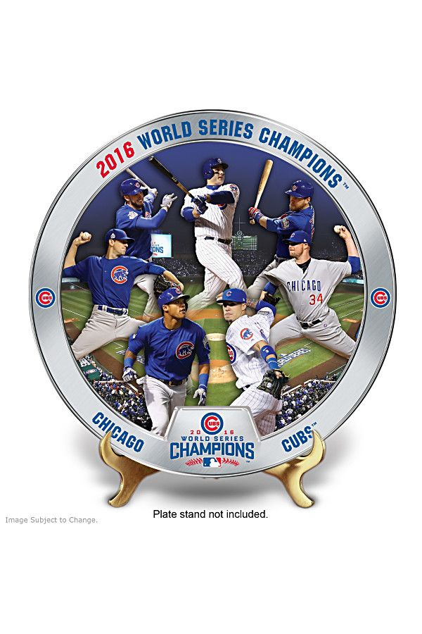 Honor the Cubs World Series win in a limited edition collector plate.