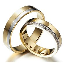 Bewitching Chic - exquisite wedding rings of white and yellow gold