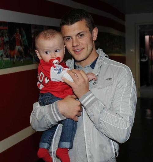 Photo of Jack Wilshere  & his  Son  Archie Jack Wilshere