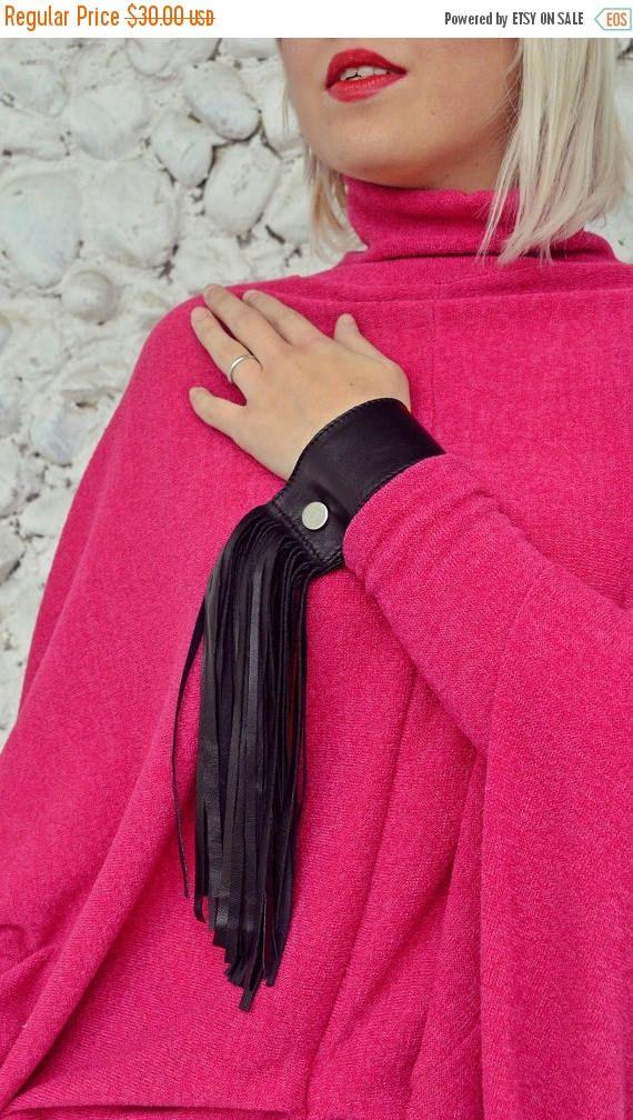 PINK SALE 25% OFF Genuine Leather Bracelet / Extravagant