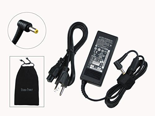 """Acer 65W Replacement AC Adapter for Aspire S3 Ultrabook Laptop Model: Acer Aspire S3, Acer Aspire S3-951, Acer Aspire S3-951-2634G24iss, Acer Aspire S3-951-2464G24iss, Acer Aspire S3-951-2464G34iss, 100% Compatible With P/N: PA-1650-02, PA-1650-01, PA-1700-02, ADP-65DB, AP.06501.005, AP.06501.008, AP.06501.009, SADP-65KB, LC.T2801.006, AP.T1902.001, LC.ADT01.007, SADP-65KB D.COME WITH MICROFIBER ADAPTER POUCH!! """"STONE POWER EXCLUSIVE""""   see more at…"""