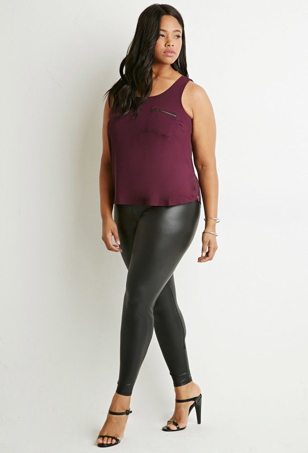 Forever 21 plus size leather pants