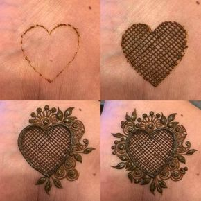 step by step mehndi design for beginners great hearth design by @nighatkazim_hennapro #mehndi #mehndidesign #henna #hennadesign #hennatattoo #hennaart #mehndiart #mehendidesign #mehndidesignforhand