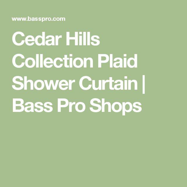 Cedar Hills Collection Plaid Shower Curtain | Bass Pro Shops