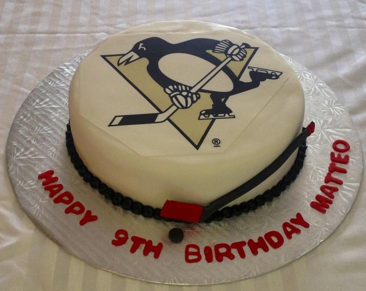 Pittsburgh Penguins Birthday Cake  Double chocolate!