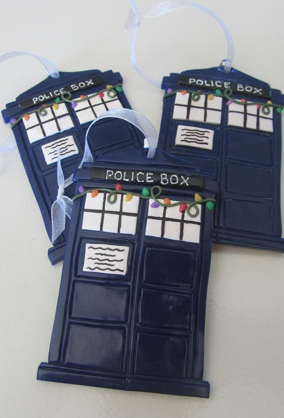 Dr. Who's TARDIS Christmas Ornament by FastenationStudio on Etsy For David, in our movie/game room