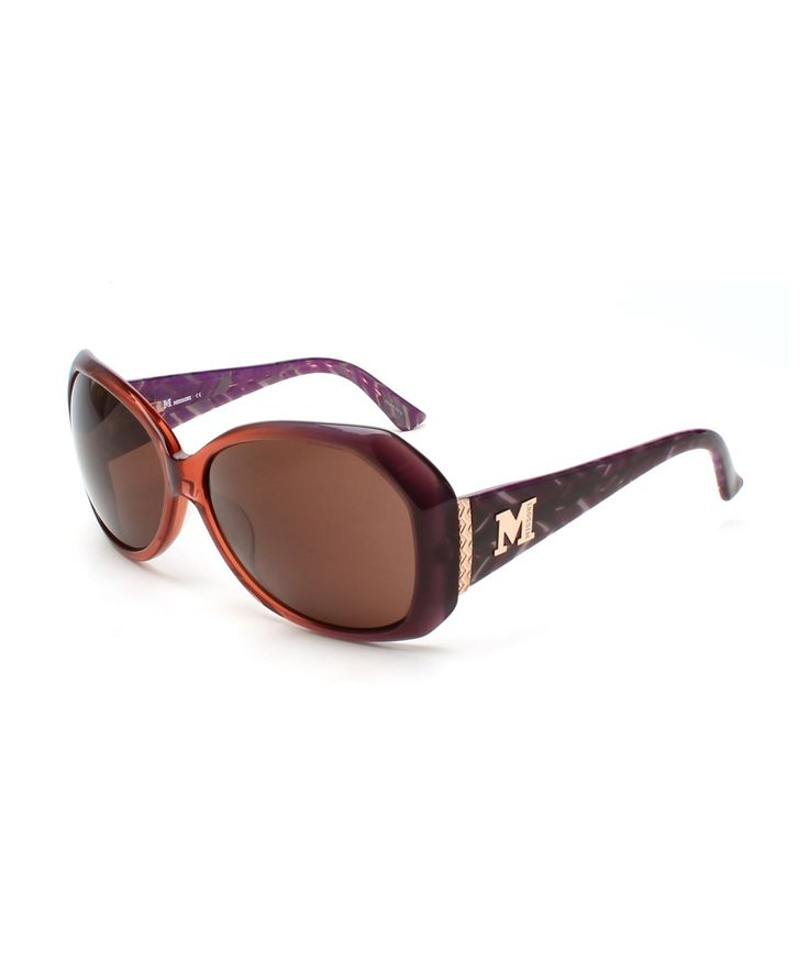 MISSONI MISSONI WOMEN'S ZIG ZAG OVERSIZED SUNGLASSES PURPLE'. #missoni #sunglasses
