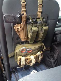 Law enforcement LEO Vehicle Grey Man Tactical Rigid MOLLE Panel RIP-M seat back tactical molle gear organizer
